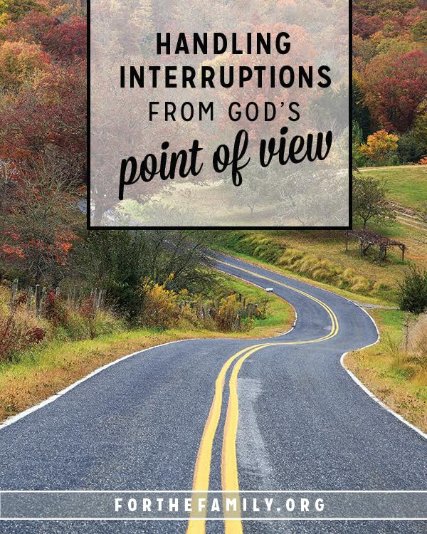 When interruptions change our plans, its easy to throw an internal fit, isn't it? But perhaps God is using what we see as interference for His glory? When life gets interrupted, are our children seeing Jesus in us? Let's shape the way they run to Him by the way they see us trusting in His care!
