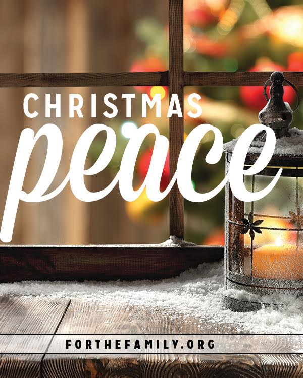 Are you feeling it yet? That rush of Christmas is in the air. In our quest to get it all right and make Christmas perfect, we can often miss the real reason for the season. Let's be sure to gather peace together today for our families!
