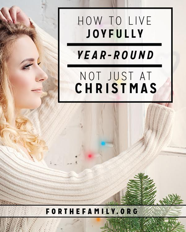 Joy to the world! It's the sentiment on our lips and shining from every strand of lights this season. But joy is not just for Christmastime. Here's why you need to capture it all year long.