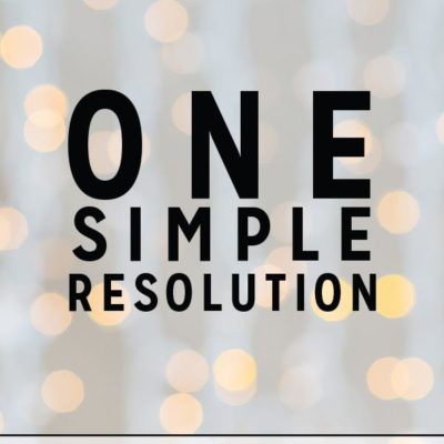 One Simple Resolution