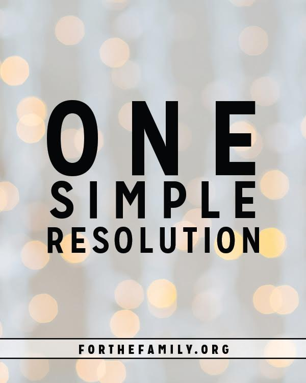 As 2016 draws to a close our minds turn towards our desires and intentions of the year to come. We can focus on goals, new workout plans, and bucket lists, or we can choose to focus on just ONE thing that will make all the difference in the world. Are you ready to make the only resolution that matters?