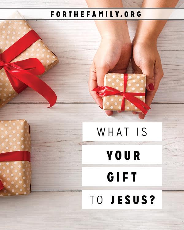 At Christmastime, and all year long, gifts are an outward sign of our love for others. But what do we bring to give Jesus? This Christmas, don't forget his present under the tree, and this new tradition that may change your holiday this year, and in all those that follow!