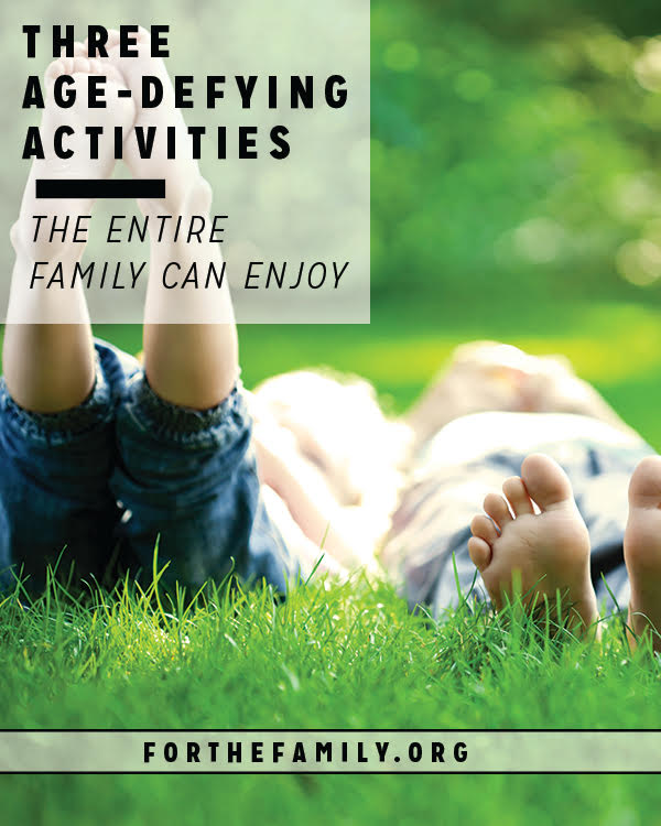 When our children are spread among ages and stages, it can be tough to find activities to enjoy together as a family. We've got you covered, with a list of fun ideas that defy age and will foster fun!