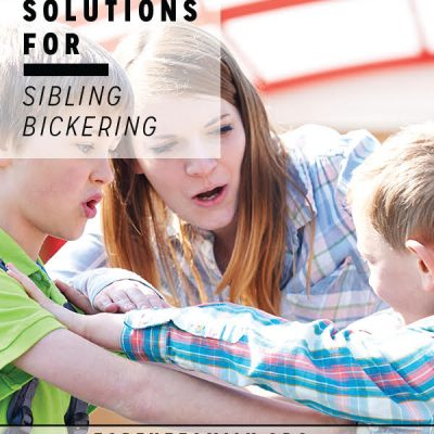 Five Solutions for Sibling Bickering