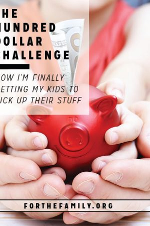 The Hundred Dollar Challenge: How I'm Finally Getting My Kids to Pick Up Their Stuff