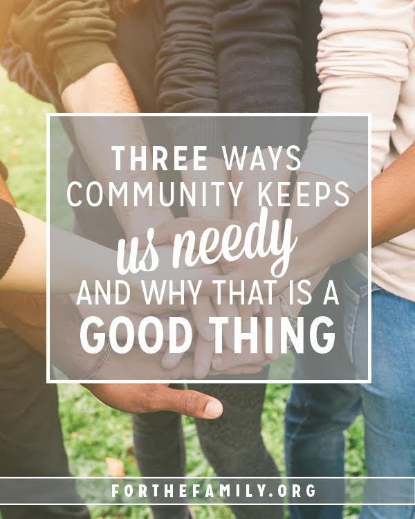 Our families need community. But true friendship requires much of us... and that's a good thing! Here's what to expect in the give and take and why it all matters.