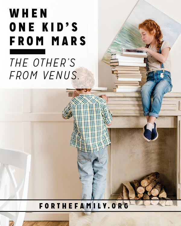 Are you raising children who are opposites? Even with profound differences, you can still help cultivate their friendship at home. Here are a few ideas to try!