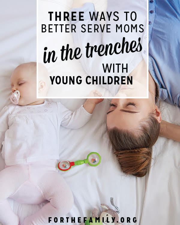 New moms need us. Do you know how to help? These ideas are sure to bless and support any young moms your community as they face the unique challenges of parenting littles.