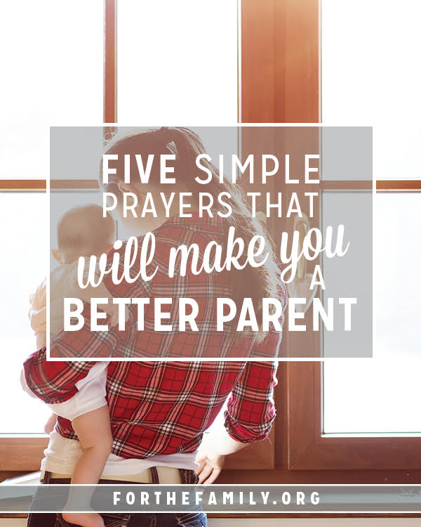 Being a parent is hard. It's easy to get focused on the daily struggles and frustrations and forget that each day is an opportunity to teach, guide and grow my children into the unique people God created them to be. I've discovered the best action for becoming a better parent is sinking to my knees.  Here are five simple prayers that I've prayed, inviting God to change me so that I can change how I see my kids and how I handle each day...