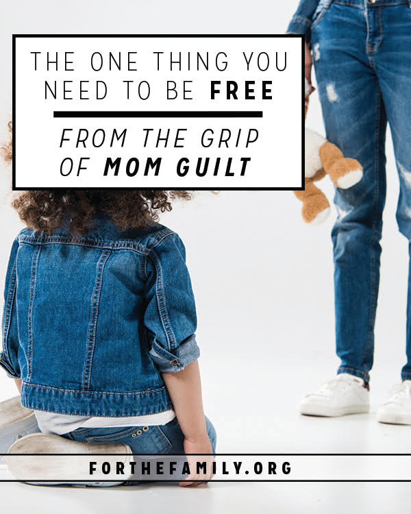 Do you ever fear you aren't good enough? That you aren't the parent you should be? Us too. So, today, we're learning to be more thankful for what we are than guilty for what we're not. Let's cut the threads of guilt with grace.