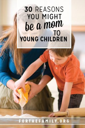 30 Reasons You Might be a Mom to Young Children