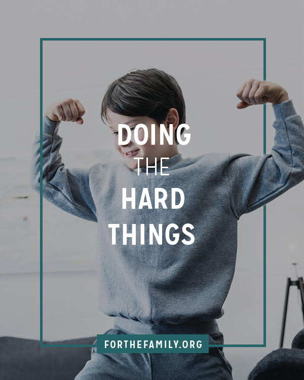 Is your family embarking on any challenges right now? Doing hard things requires much rom us, but it also has the capacity to grow us as God increases our capacity to serve him. Here's why doing the hard things matter -and encouragement to help you stick it out!