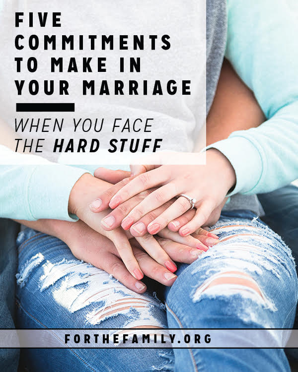 Sometimes God uses despair to birth new hope. If you are going through difficulty, consider these fresh commitments to make with your spouse to help you get through the bad times and remember the depth and wonder of biblical love.