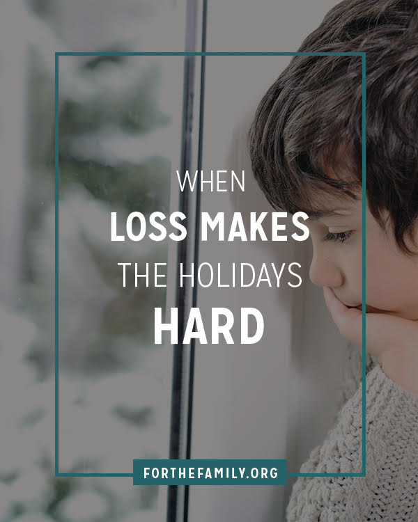The holidays are approaching and that means many of us brace ourselves for being busy and handling stressful relationships. But what if grief is part of someone's story? Try these ideas for how to love them well as they struggle with pain in this season.