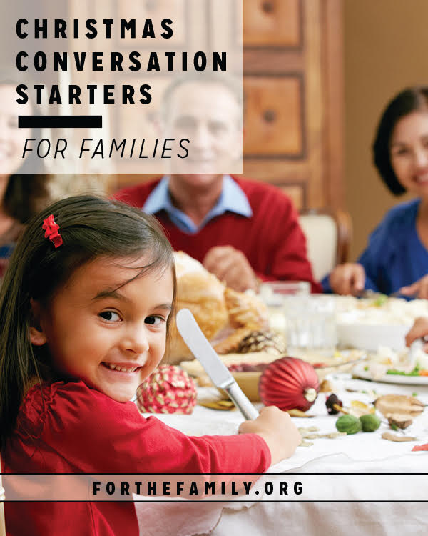 This season your family may find themselves around the table more often than any other time of year-have fun together and teach your children the art of asking great questions with these conversation starters.