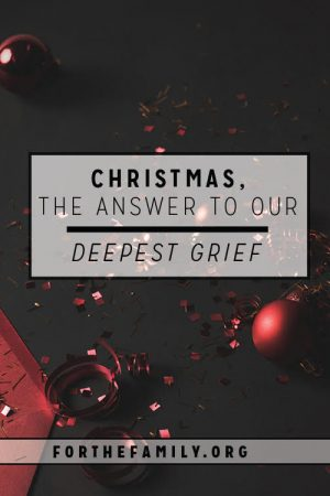 Christmas, the Answer to Our Deepest Grief