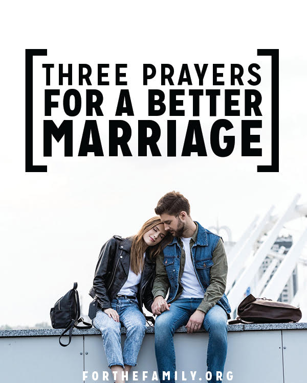 Do you pray regularly for your spouse? These three prayers are a perfect place to start, or grow, in taking the one you love before the feet of Jesus.