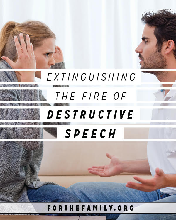 Extinguishing the Fire of Destructive Speech