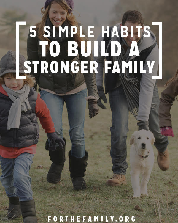 Do you long to strengthen your family bonds? We all want to grow together, but it's hard to know just how to start. Try implementing one of these 5 ideas in your home this week to build a strong foundation!