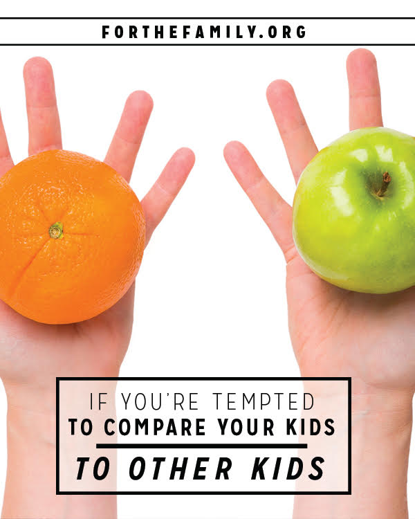 If you're tempted to compare your kids to other kids