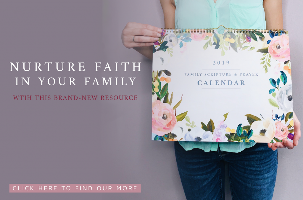 Family Scripture + Prayer Calendar from FaithfulMoms.org