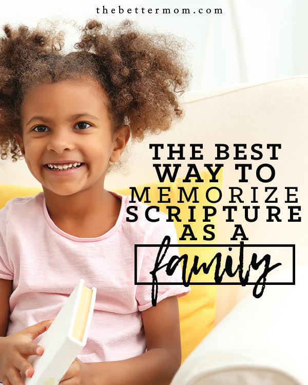 Does your family memorize Scripture together? Here's why introducing this habit into your home can be meaningful and ideas for how to begin!