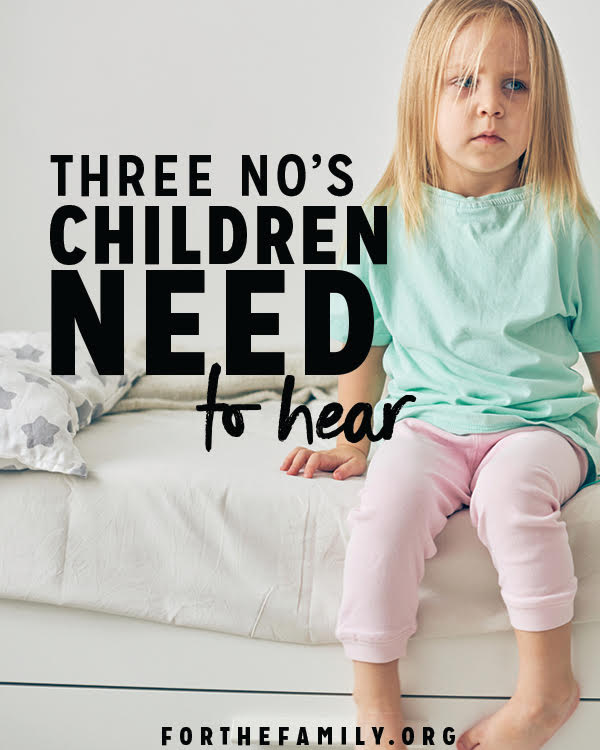 "Do you struggle to say ""no"" to your children? Discipline includes so much more, but saying ""no"" must play a part. Here are three things you need to always say ""no"" to as a parent- and how!"