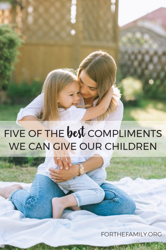 Our children need our affirmation and praise. Let's shower them with life giving words that also point them to Jesus and the truth of who they are in Him. Here are five phrases that you can use to build up your kids with a biblical identity.