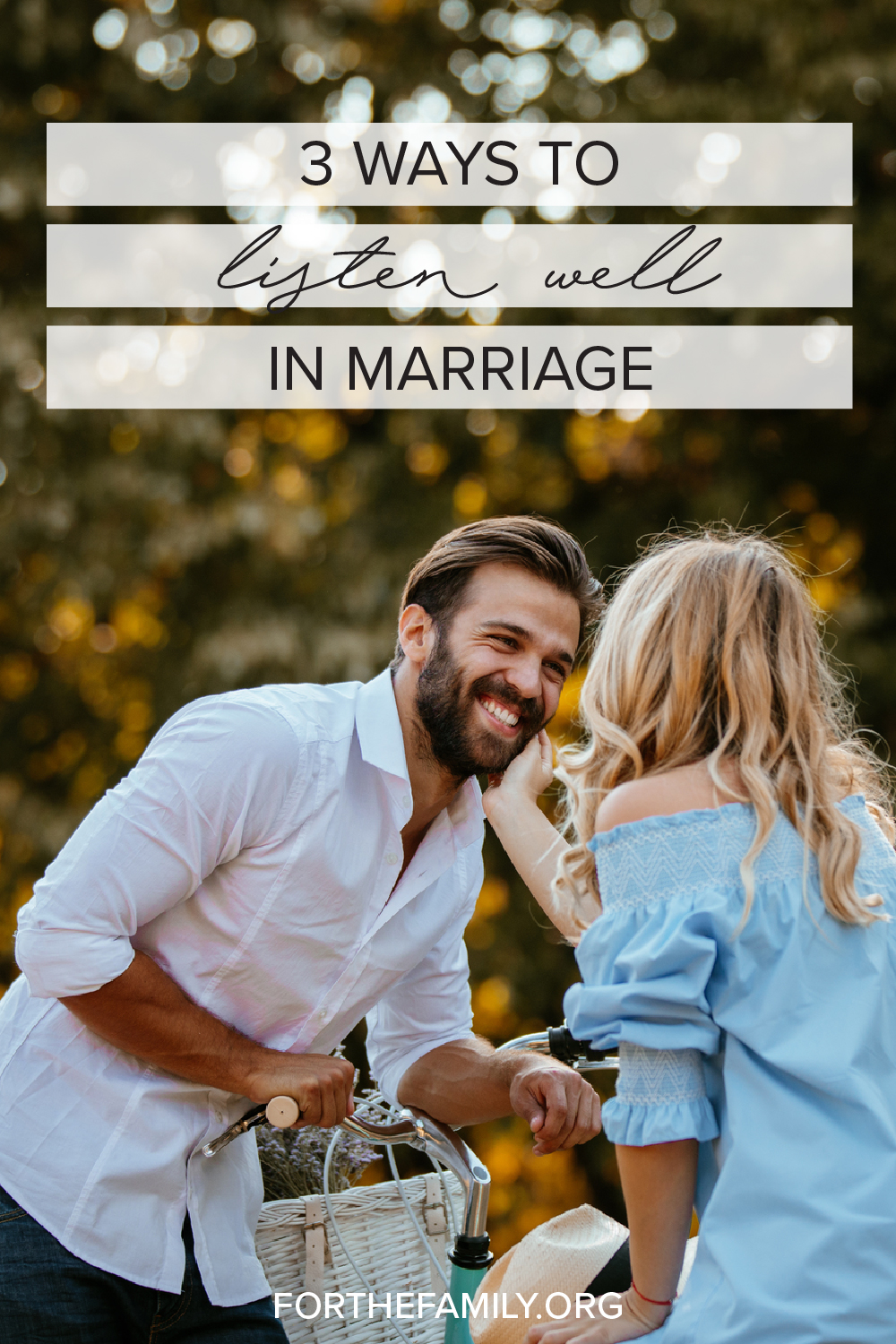 Did you know one of the best ways you can love your spouse is by actively listening? When we enter in to what is on their hearts and show them we care it means so much, so today, we're cultivating the art of listening together. Join us!