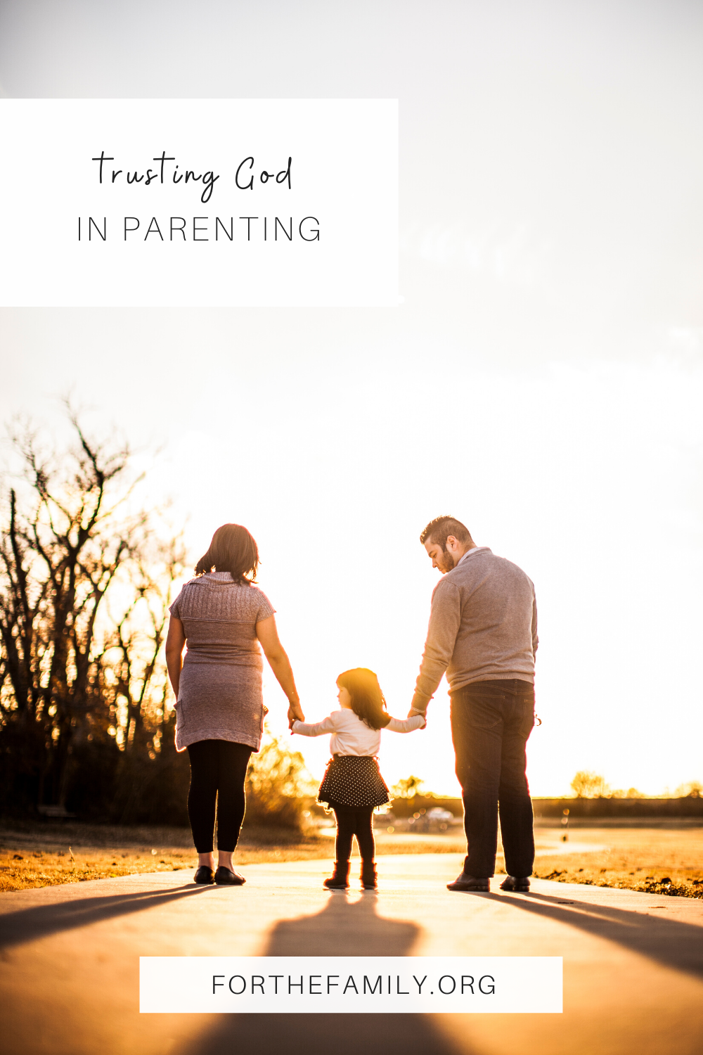 Parenting God's way is not an easy task. We can consult God on all the details of life, but trusting Him with the outcome is vital. When we trust in our Father, we can find rest, peace, and joy!