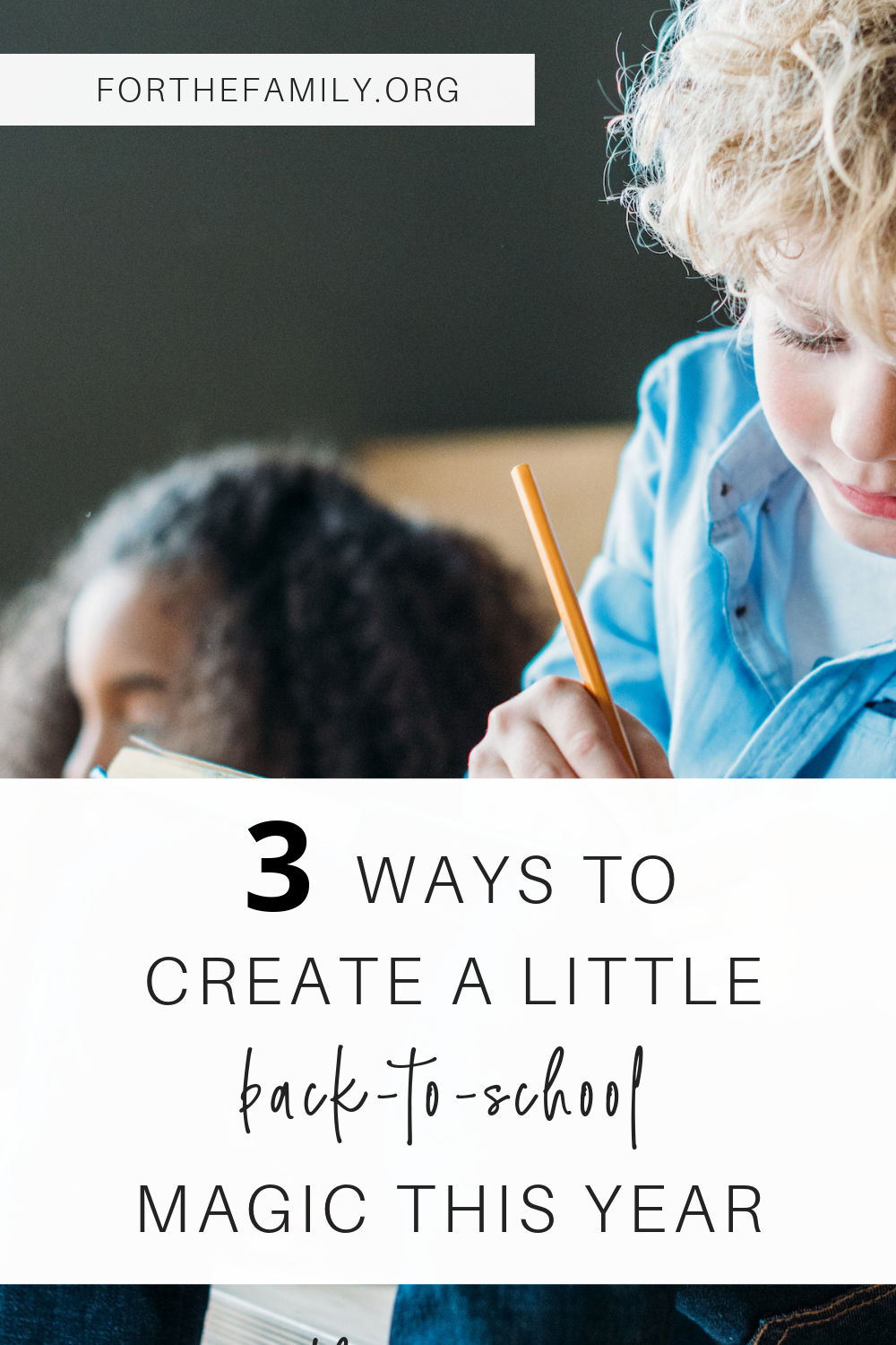Back to school can feel a little overwhelming with so many check-lists, errands and lists. So why not add a little wonder to this new season? We've got ideas to help make this Back to School season special (and a lot more fun!)