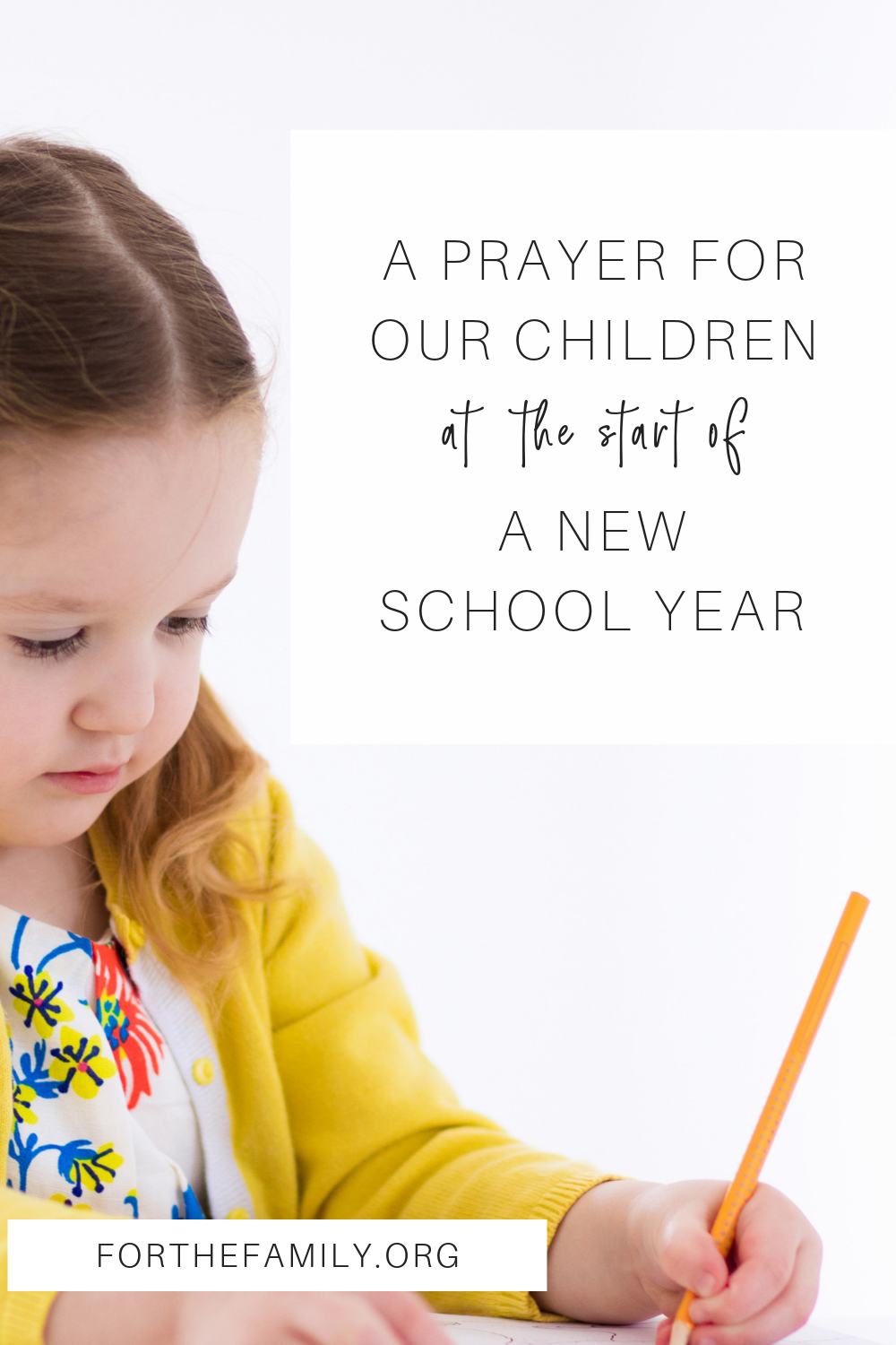 The new school year is beginning, and more than fresh pencils, new notebooks and spiffy clothes, our children need a blessing this year. Join us today in prayer for the beginning of this season!