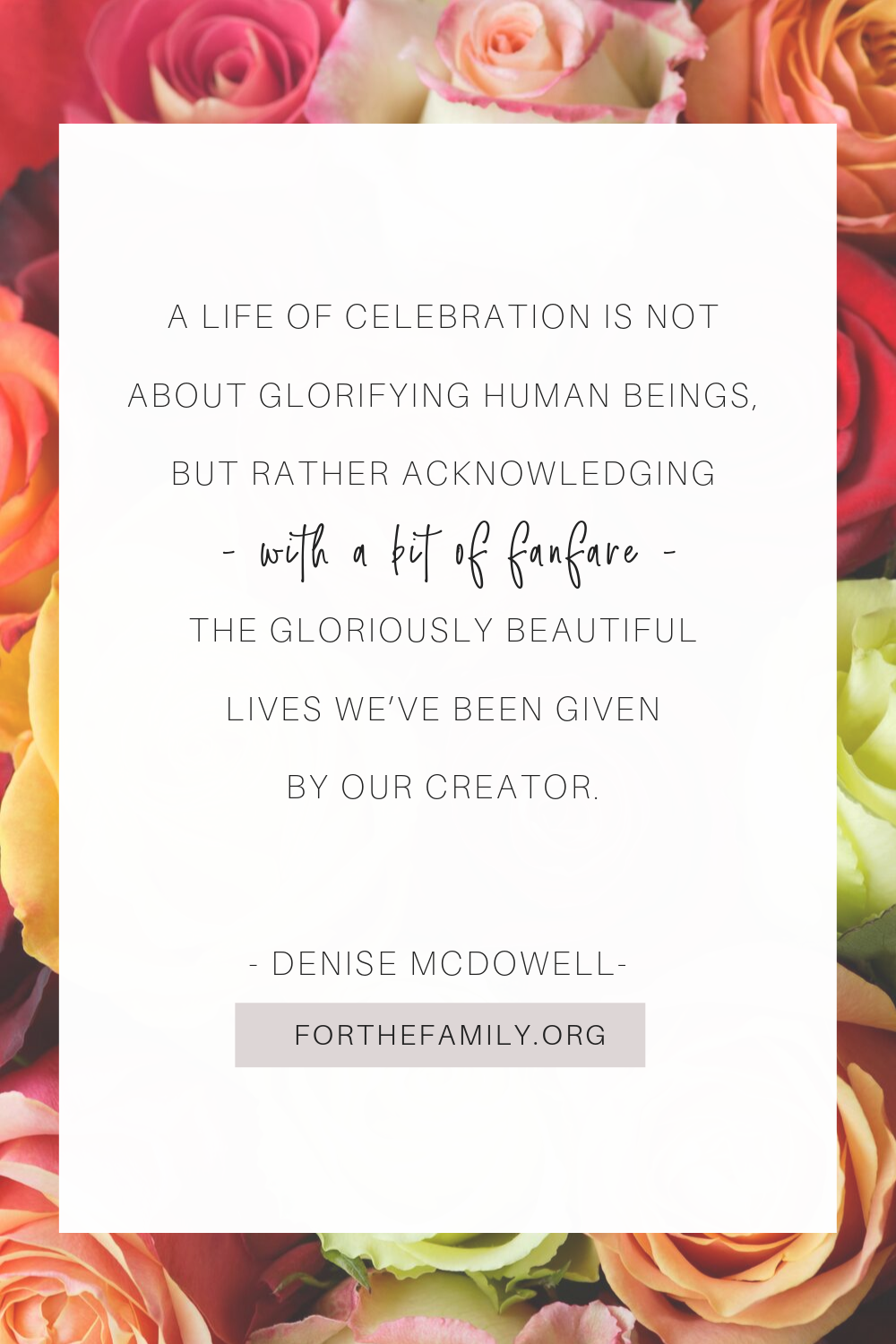 What does living a life of celebration require? It's not about throwing the best party and living over the top, but rather about celebrating the gifts we've been given by a God who loves us. Are you ready to respond to Him with joy?