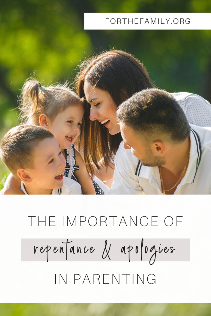 As parents we blow it sometimes....and we know it. Likely, so do our children. So what can we do about it? Today, we're talking about the importance of apologizing to our kids, humbly admitting our weakness, our sin, and modeling a way forward in the grace God gives us.