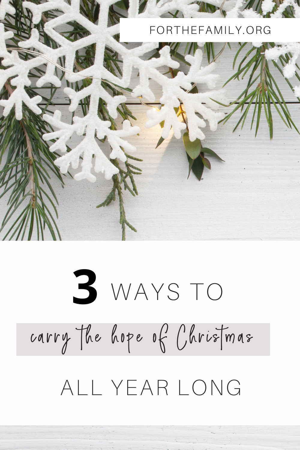 All of the presents are opened and the wonder of Christmas is past. But we must not lose sight of the Christmas hope that remains. Here are three ways to hold hope all year long!