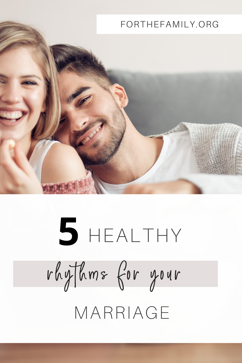 Are you struggling to keep your marriage a priority in the midst of work, school, and life? Is it even possible? This is the perfect time of year to start establishing healthy rhythms for a healthy marriage. We are sharing five of those rhythms today!