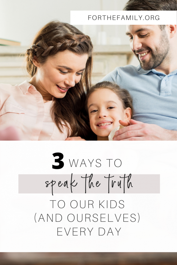 As adults, we need to learn how to speak truth to ourselves - to know who God is, what he says and how to speak life over our wavering hearts and minds. If we need this, our children do too! Here's how you can start early teaching your children to know God's truth and to speak it over their lives...