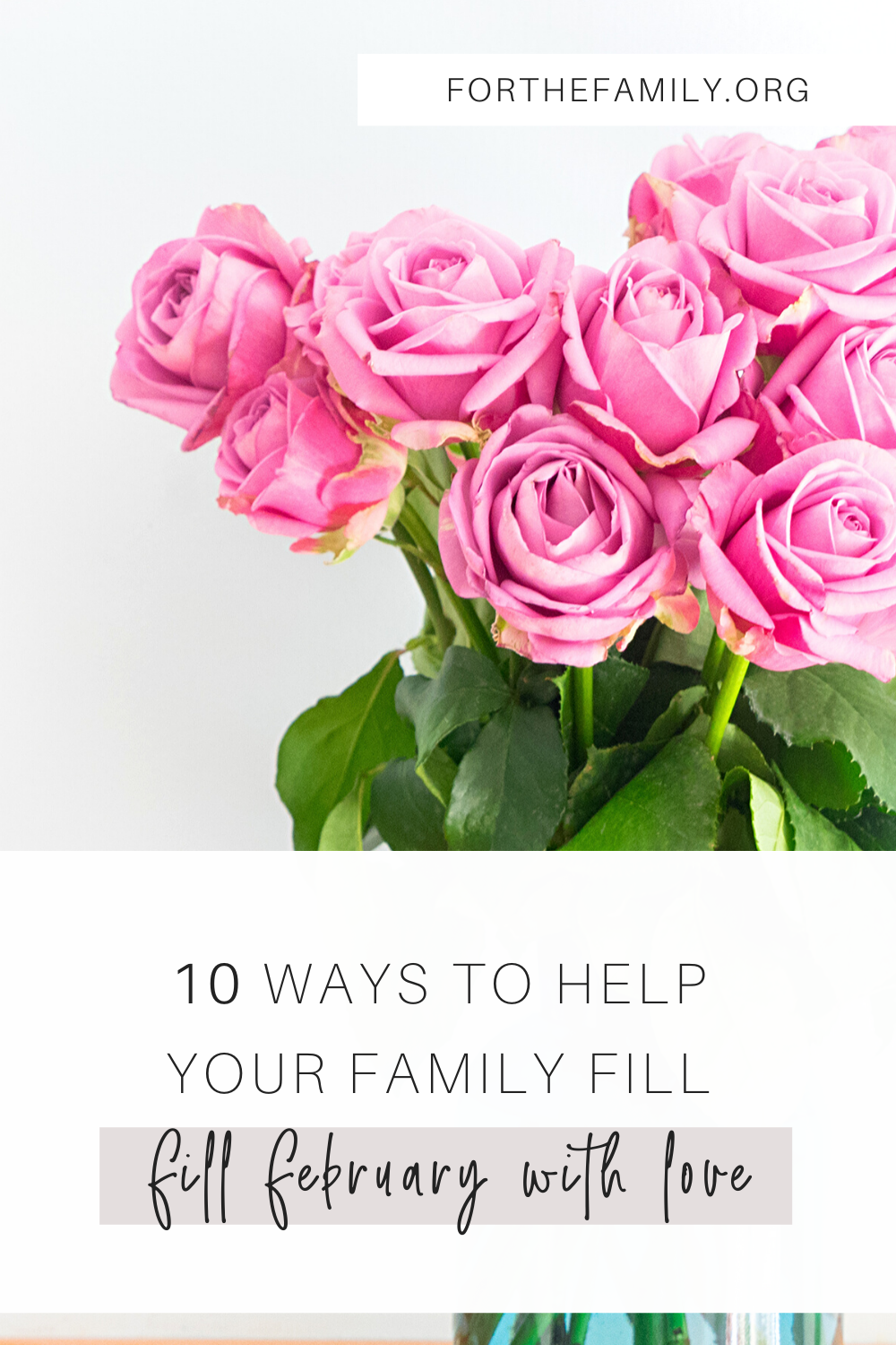 When February arrives we don't need to simply focus on one special day. Instead, we can see it as a month in which we can help our family learn about loving each other and loving God more. If you're interested in spreading the love this February, here are 10 ways to help your family fill February with love!
