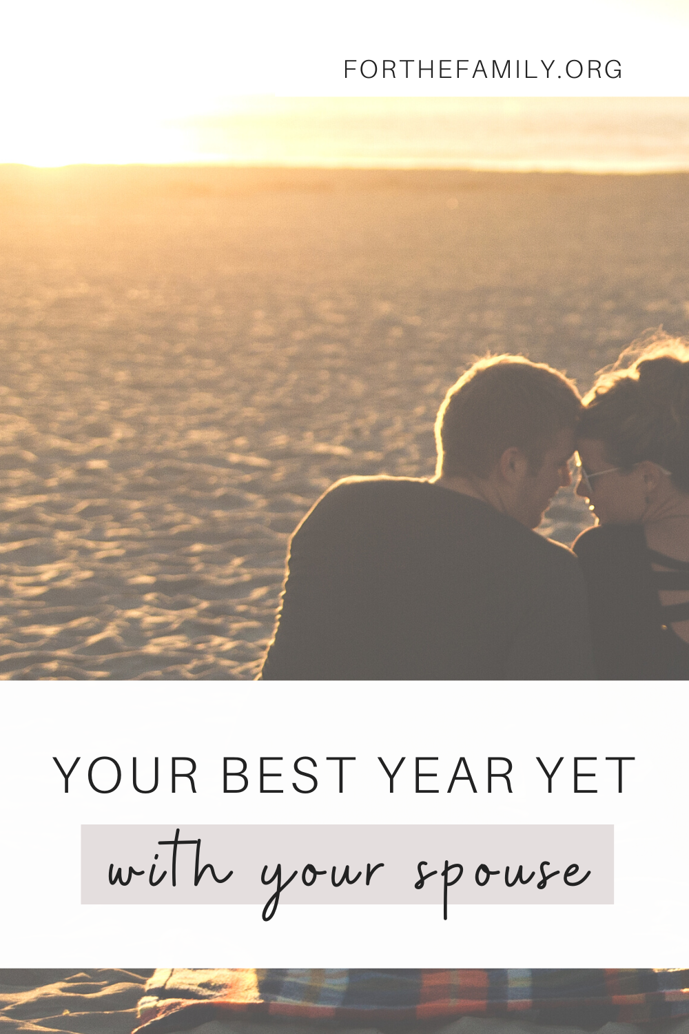 We all make New Year's resolutions when it comes to fitness, work, spiritual growth, etc, but when was the last time we took a look at the health of our marriage? Here is how you can make this year the best year yet with your spouse!!