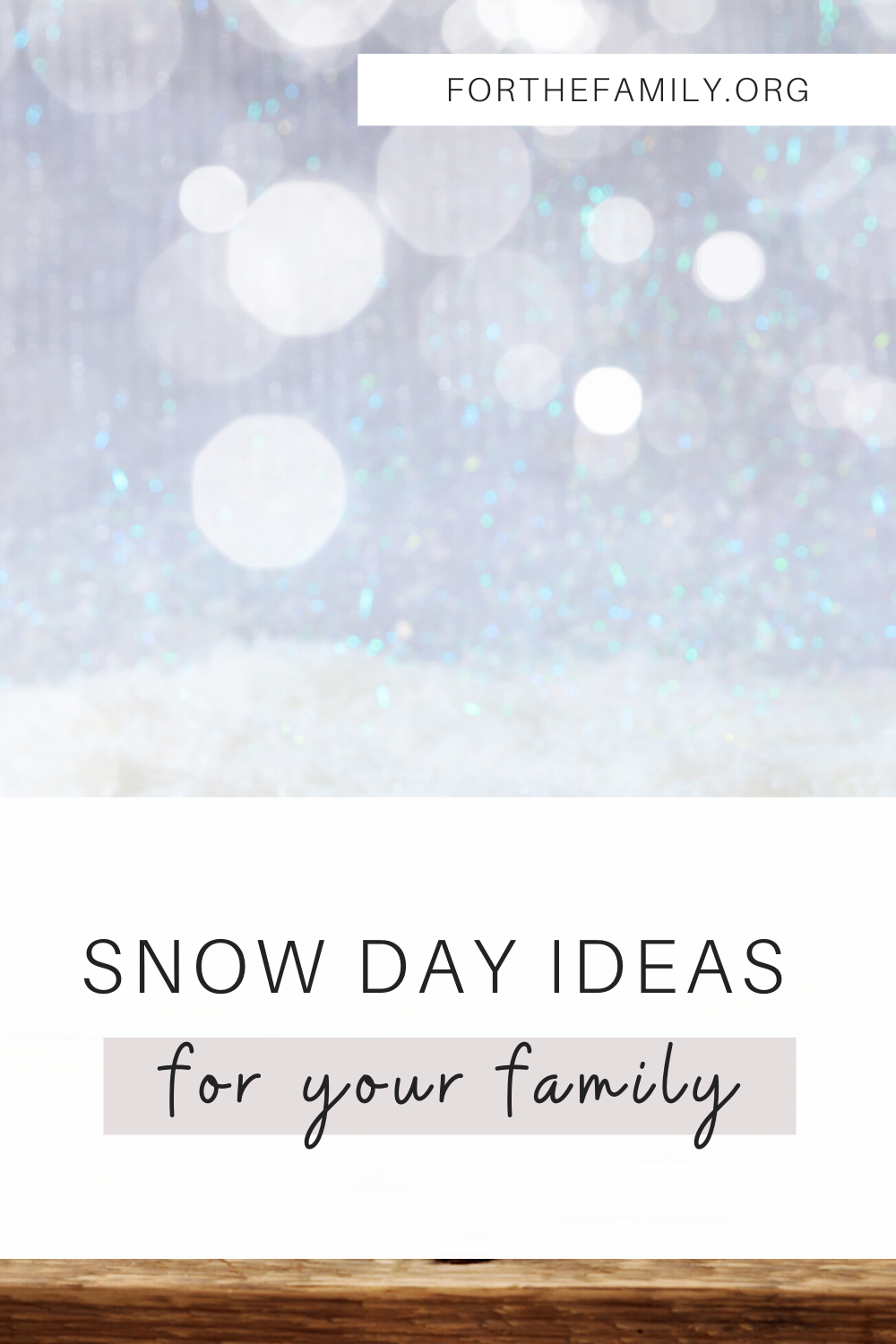 Growing up in Michigan, snow days are all too familiar! Of course, the kids are pumped, but as a parent, we can soon discover that keeping everyone occupied can be a bit of a challenge. Here are a few ideas and recipes to help your kiddos pass the time and to save yourself some sanity!