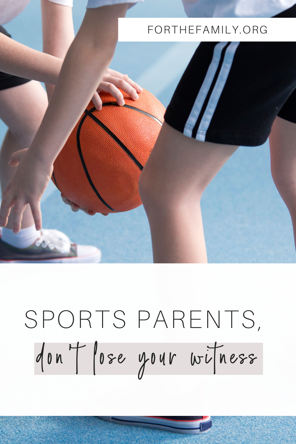 Many of us have children in sports and have seen firsthand the craziness that can ensue when a parent takes the liberty to shout at the ref, another parent or even a child. But what are our words and actions really communicating to our kids and others around us? Here are some checkpoints for maintaining a Christ-like character in the midst of competitive sports....