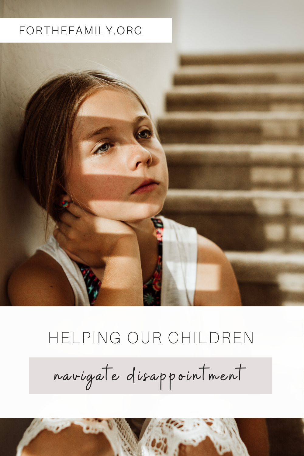 As adults, disappointment is hard to process, but it's even harder for our children. Us parents have an opportunity to help our children navigate through this season of disappointment in a healthy and Godly way!