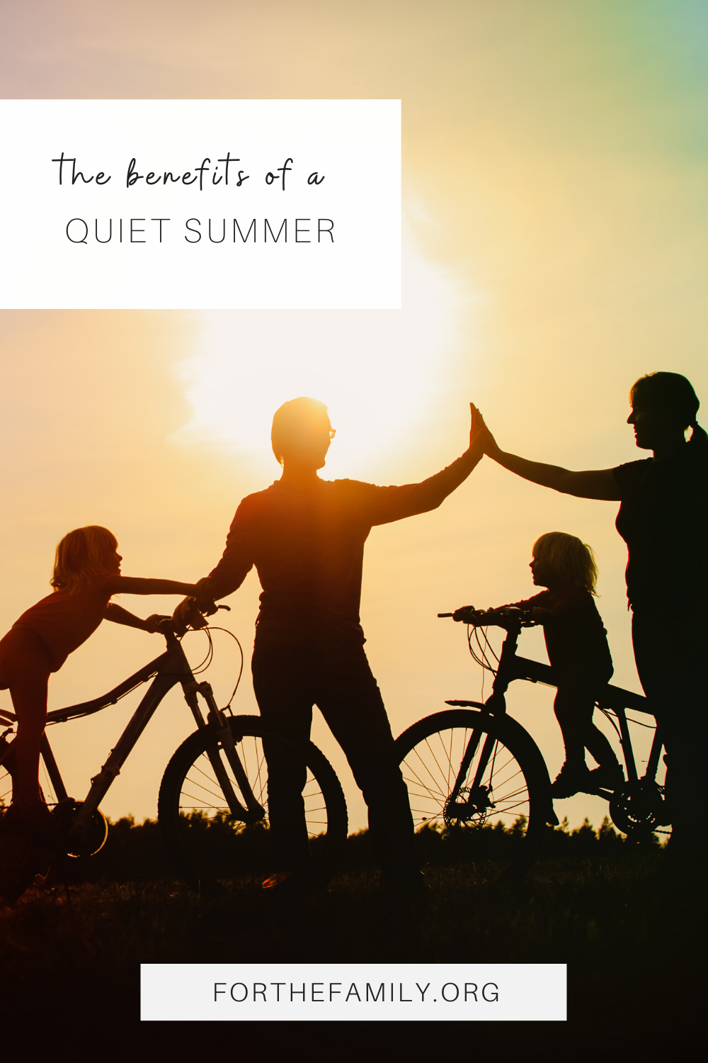 Now that the usual packed summer schedule has been completely cleared, summer will be much quieter than we anticipated. Although unexpected, this quiet summer can bring even greater gifts from God!