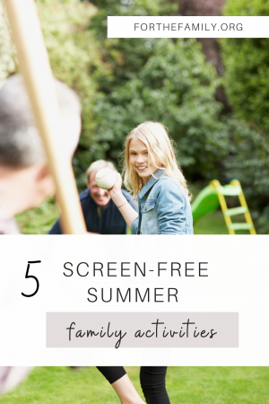 Are you considering taking the ultimate family adventure this summer and trying to go. . . unplugged? There are so many ways to connect together this summer that don't involve screen time. Here are some of our best ideas for (tech free) summer fun.