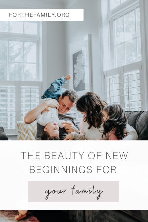 """Stock Image of family. """"The Beauty of New Beginnings for Your Family. forthefamily.org"""""""