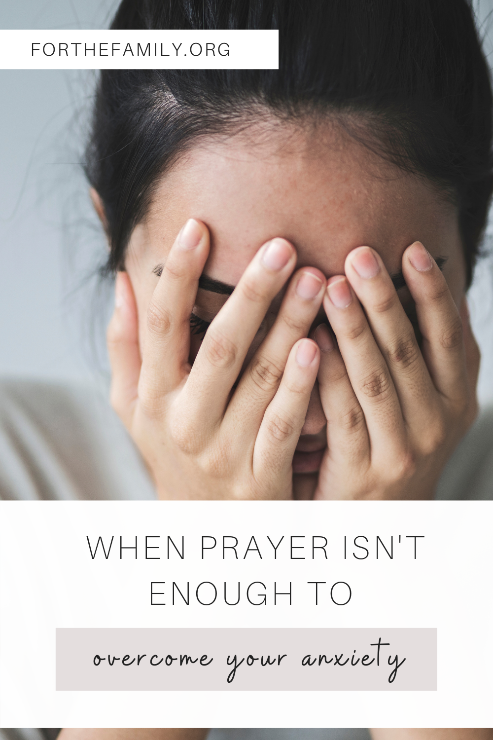 What do you do when prayer isn't enough to overcome your anxiety? God has promised that we may lead lives of abundance. However, it doesn't come easy. Here's what you can do to start overcoming your anxiety today!