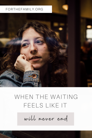 In seasons of waiting, it sometimes feels like it will never end. But we can be so consumed by not having answers now that we miss out on life's blessings right in front of our faces! Here's what to do in times of waiting.