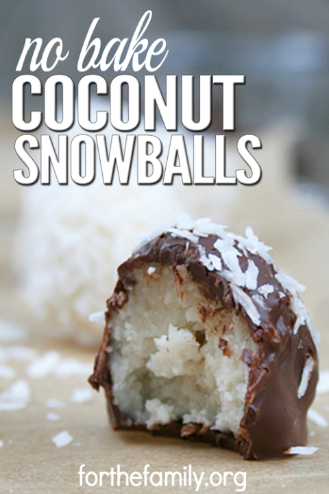 Coconut Snowballs are a simple, easy-to-make cookie recipe that doesn't involve any baking. These cookies only take 5 minutes to make, and the melted chocolate makes them taste just like candy. These are great for holidays, family gatherings, or any time you need a simple treat to calm your sweet tooth craving.